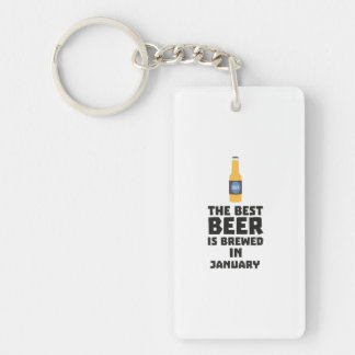 Best Beer is brewed in January Zxe8k Keychain