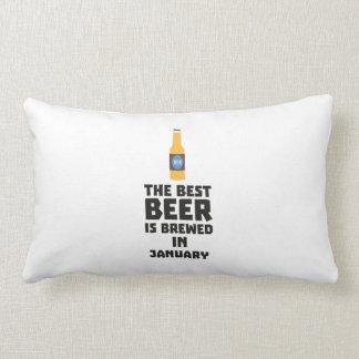Best Beer is brewed in January Zxe8k Lumbar Pillow