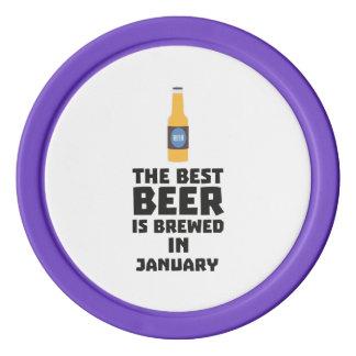 Best Beer is brewed in January Zxe8k Poker Chips