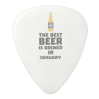 Best Beer is brewed in January Zxe8k Polycarbonate Guitar Pick