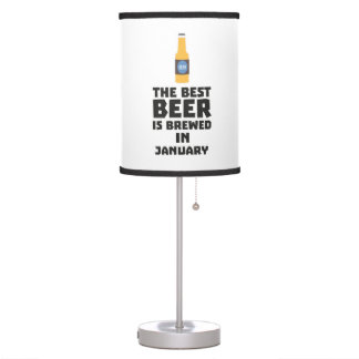 Best Beer is brewed in January Zxe8k Table Lamp