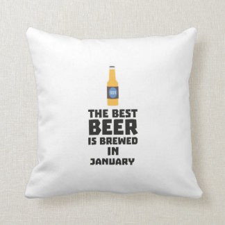 Best Beer is brewed in January Zxe8k Throw Pillow