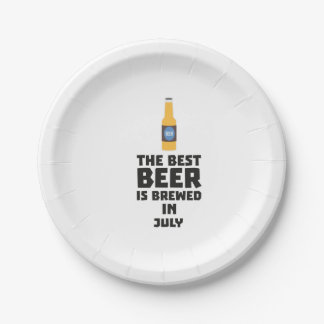 Best Beer is brewed in July Z4kf3 7 Inch Paper Plate
