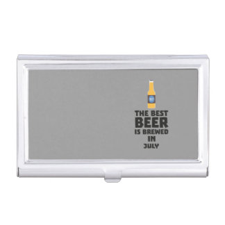 Best Beer is brewed in July Z4kf3 Business Card Holder