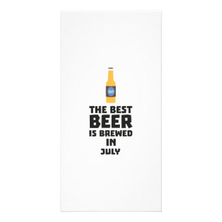 Best Beer is brewed in July Z4kf3 Custom Photo Card