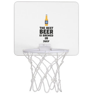 Best Beer is brewed in July Z4kf3 Mini Basketball Hoop