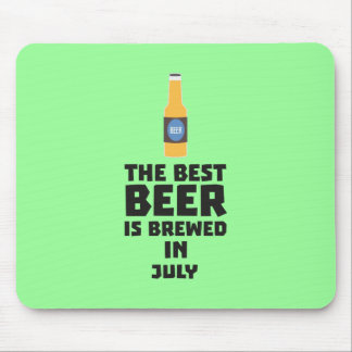 Best Beer is brewed in July Z4kf3 Mouse Pad