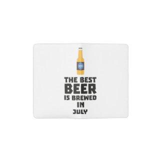 Best Beer is brewed in July Z4kf3 Pocket Moleskine Notebook