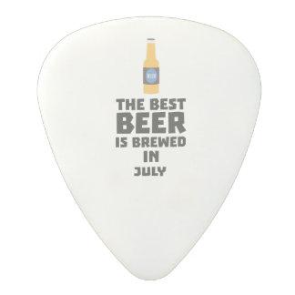 Best Beer is brewed in July Z4kf3 Polycarbonate Guitar Pick