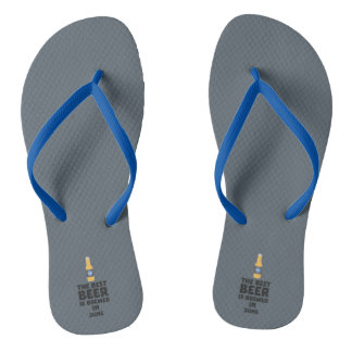 Best Beer is brewed in June Z1u77 Flip Flops