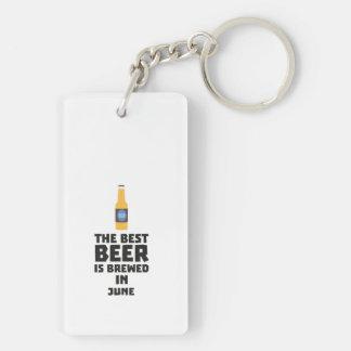 Best Beer is brewed in June Z1u77 Keychain