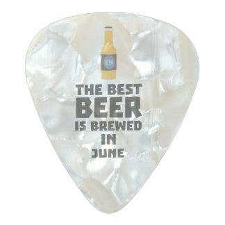 Best Beer is brewed in June Z1u77 Pearl Celluloid Guitar Pick