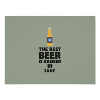 Best Beer is brewed in June Z1u77 Poster