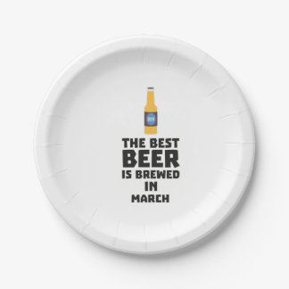 Best Beer is brewed in March Zp9fl 7 Inch Paper Plate