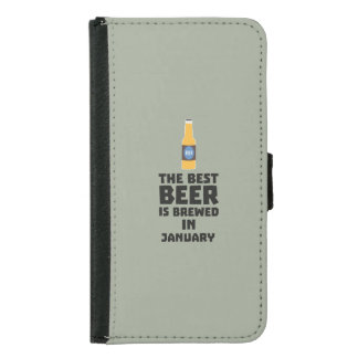 Best Beer is brewed in May Z96o7 Samsung Galaxy S5 Wallet Case