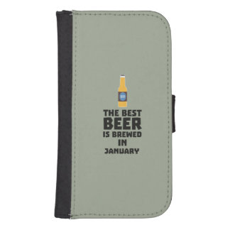 Best Beer is brewed in May Z96o7 Samsung S4 Wallet Case
