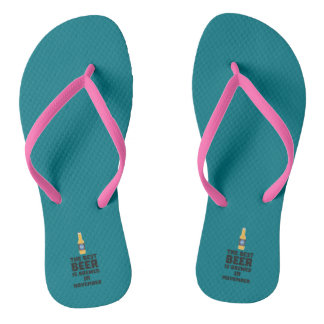 Best Beer is brewed in November Zk446 Flip Flops