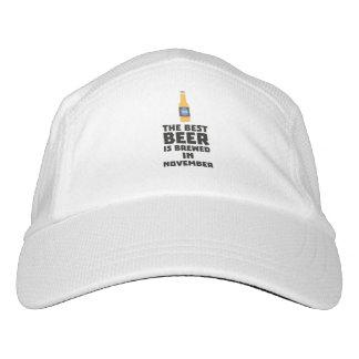 Best Beer is brewed in November Zk446 Headsweats Hat