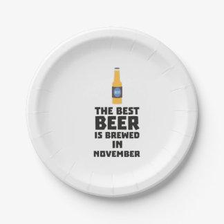 Best Beer is brewed in November Zk446 Paper Plate