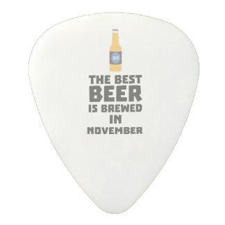 Best Beer is brewed in November Zk446 Polycarbonate Guitar Pick