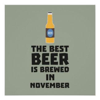 Best Beer is brewed in November Zk446 Poster