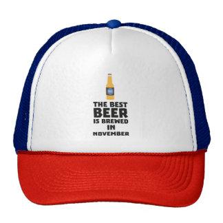 Best Beer is brewed in November Zk446 Trucker Hat