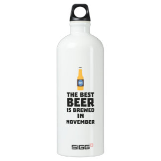 Best Beer is brewed in November Zk446 Water Bottle