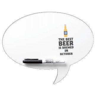Best Beer is brewed in October Z5k5z Dry Erase Board