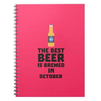 Best Beer is brewed in October Z5k5z Notebook