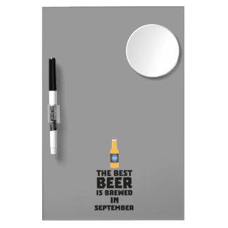 Best Beer is brewed in September Z40jz Dry Erase Board With Mirror