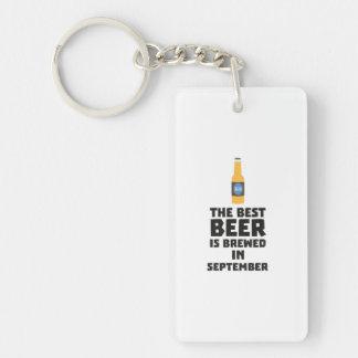 Best Beer is brewed in September Z40jz Keychain