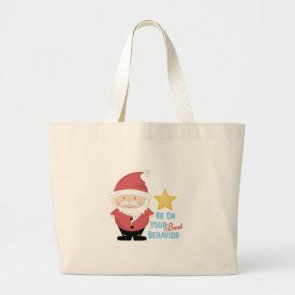 Best Behavior Large Tote Bag