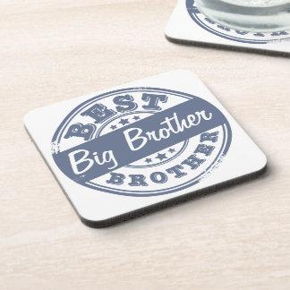 Best Big Brother - rubber stamp effect - Drink Coaster