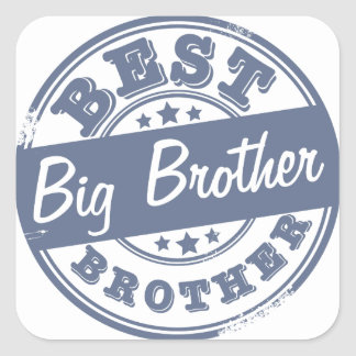 Best Big Brother - rubber stamp effect - Square Sticker