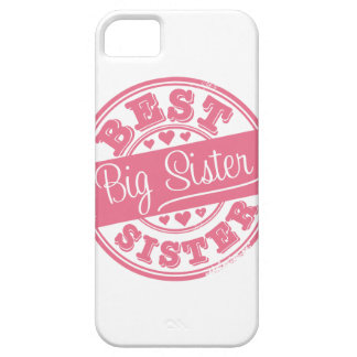Best Big Sister -rubber stamp effect- iPhone 5 Cover