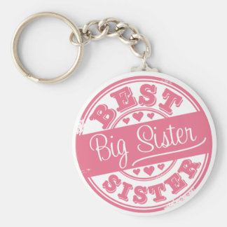 Best Big Sister -rubber stamp effect- Key Chain