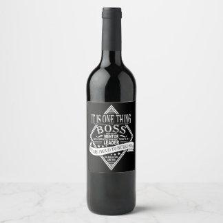 Best Boss Appreciation Gift Wine label leader