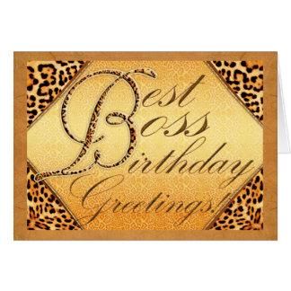 Best boss birthday greeting cards