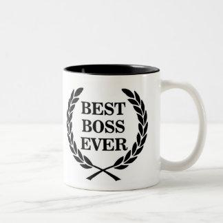 Best Boss Ever Award Two-Tone Coffee Mug