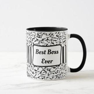 Best Boss Ever Black and White Coffee Mug