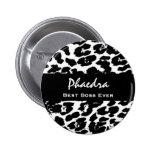 Best Boss Ever Custom Name Black White Leopard