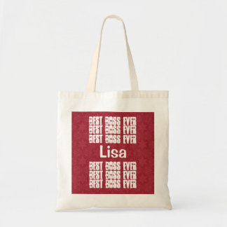 Best Boss Ever Red and White Modern  B203 Tote Bag