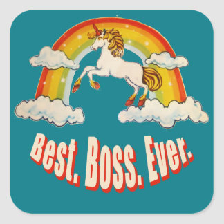 Best Boss Ever Square Sticker