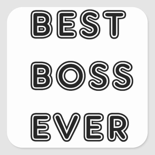 Best Boss Ever Square Stickers