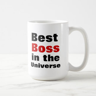 Best Boss in the Universe Classic White Coffee Mug