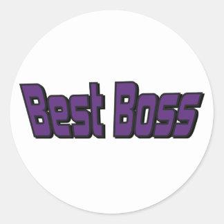Best Boss Round Sticker