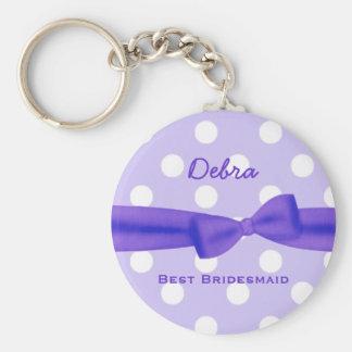 Best Bridesmaid Custom Name Printed Bow Gift V48 Keychain