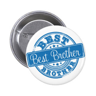 Best Brother -rubber stamp effect- 2 Inch Round Button
