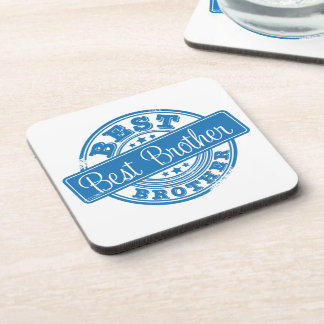 Best Brother -rubber stamp effect- Drink Coasters
