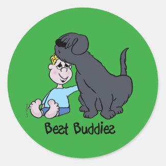 Best Buddies Classic Round Sticker